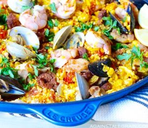 Cauliflower paella